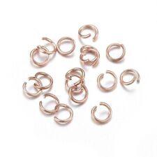 4-8mm Edelstahl Biegeringe Binderinge open jump rings rose