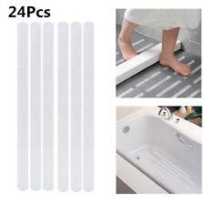 24 Safety T-Strips Clear Non-Slip Applique Mat Stickers Bath, Tub & Shower