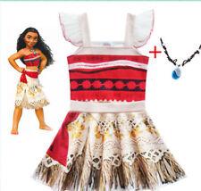 US STOCK !  Moana Kids Girls Party Dress Skirts Lovely Birthday Dress  O50