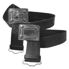 Men's Tartanista Scottish Lion & Celtic Embossed Leather Kilt Belts & Buckles
