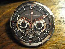Christophe Claret Black Gold Swiss Wrist Watch Advertisement Button Lapel Pin