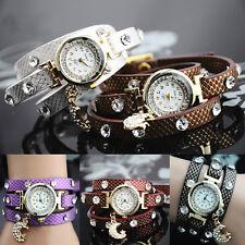 Axy Montre Bracelet Enroulé Strass Damen-Armbanduhr-Wickelarmband-Watch
