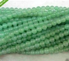 "6mm8mm10mm natural green emerald Aventurine round jade loose beads 15"" A"