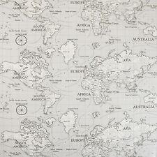 Grigio Atlas Mappa del mondo in Tela Cerata PVC Vinile Tovaglia WipeClean