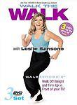 Walk the Walk with Leslie Sansone - 3 Pack (DVD, 2002, 3-Disc Set)  BRAND NEW
