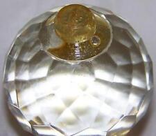 "Vintage Crystal Faceted Round Spear Prism 1 3/4"" Diameter"