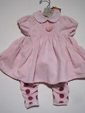 Eliane et Lena Baby Kleid, Legging + Bluse  3-teilig Gr. 56  0-3 Mon  NEU - 60 %