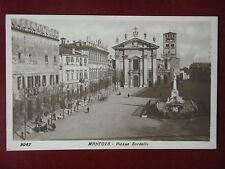 MANTOVA-Piazza Sordello-animata,viagg,anni 20#6699