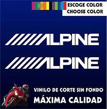 2 X PEGATINAS -STICKER- VINILO - PACK - ALPINE - Moto Sponsor - AUFKLEBER -VINYL