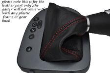 RED Stitch accoppiamenti SEAT LEON TOLEDO ALTEA 06-11 DSG AUTOMATICO LEATHER GEAR Ghetta