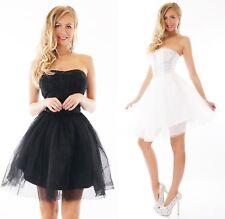 Nouveau schößchen fermement robe Fête Mini-robe à paillettes robe de soirée blanc 34 36 38