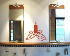 Wandtattoo Weihnachtskerze Wandaufkleber Kerze 25 Farben 7 Größen
