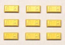 x9 NEW Lego Gold Bar Ingot MINIFIG Utensil Treasure Money Coins