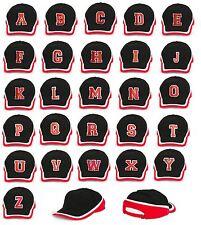 NEW BASEBALL CAP LETTER A-Z HAT SNAPBACK  Adjustable Strap Embroidered in UK LA