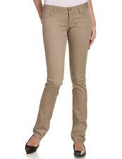 Dickies Junior Khaki Stretch Pant Skinny Bottom Leg Classic 5 Pocket Size 0 to15