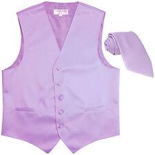 New Men's Formal Tuxedo Vest Waistcoat_Necktie lavender wedding party prom