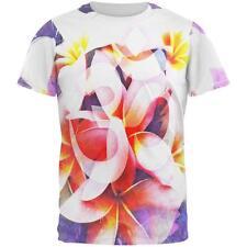 Om Frangipani Pagoda Temple Flower All Over Mens T Shirt