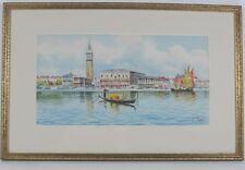 ALBERTO ROSSI (1858-1936) Grand Canal Venice Italy Italian Watercolor Painting