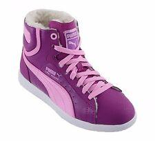 PUMA FIRST ROUND FUR Kinderschuhe Hi Top Sneakers Freizeitschuhe, violett, 38