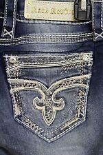 New Rock Revival Skinny Jeans Jaylyn Destroy Golden Stitch 25 26 27 28 29 30 31