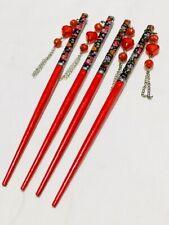 4 * Fancy Hair Chopsticks Hair Bun Pins For Womens Girls Hair Chignon Style Tool