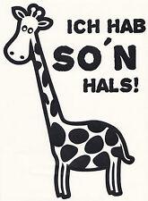 Wandtattoo Wandaufkleber Giraffe ich hab so'n Hals! Wohnzimmer Flur