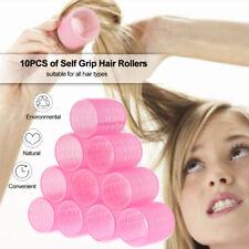 Hair Rollers Self Grip Salon Hairdressing Curlers DIY Curling Tool 10 Packs O4P5