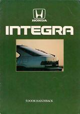 Honda Integra 1500 LX 1986 UK Market Sales Brochure
