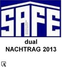 SAFE Dual Nachtrag 2013 Deutschland kpl.Jahr Bundesrepublik Bund Vordruck