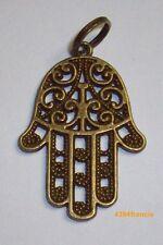Pendentif  Main de Fatima Protection Hamsa Hand Charm aspect Bronze