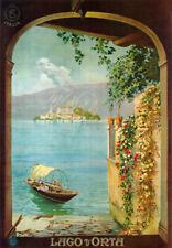 TV47 Vintage A4 1925 Lake Lago D'Orta Italy Italian Travel Poster Re-Print