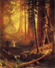 Albert Bierstadt Giant Redwood Trees of California Fine Art  Giclee Canvas Print