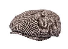 SALE Baker boy Newsboy Herringbone Tweed Eight Panels David Beckham's Style Hat