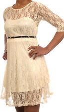 Minikleid Party Cocktailkleid mit Spitze Mini Dress  *  4 Farben   *  Größe S-XL