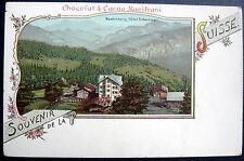 SWITZERLAND~1900's SOUVENIR DE LA SUISSE Beatenberg~ CHOCOLAT & CACAO MAESTRANI