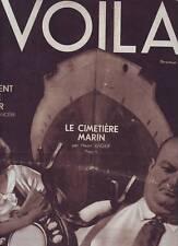 1931 REPORTAGES PHOTOS REVUE VOILA n°22 LE CIMETIERE MARIN SERPENT DE MER