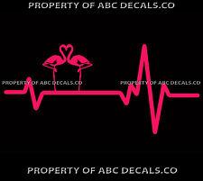 Pink Flamingo Heart VINYL DECAL,Yard,bird,spinner,Lawn,Ornament,Car,Window,SM