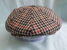 MENS WOOL COUNTRY TWEED 8-PANEL BAKER BOY CAP NEWSBOY AKA PAPERBOY CABBY HAT