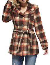 NE PEOPLE Womens Basic Double Breasted Pea Coat With Belt [NEWJ912]
