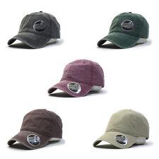 Plain Vintage Washed Dyed Cotton Twill Low Profile Adjustable Baseball Cap