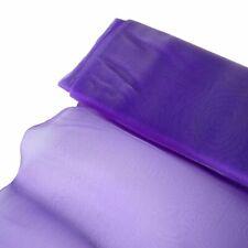 "Purple CHIFFON FABRIC 54"" x 10 yards Bolt Crafts Sewing Put-up Wedding Party"