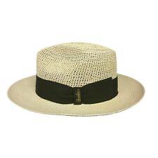 BORSALINO cappello uomo 141106 Panama semi-crochet 100% Paglia MADE IN ITALY