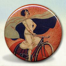 Onyx Bicycle Girl Pocket Mirror