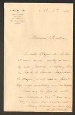 """FONTENAILLES prés NEUVY-LE-ROI (37) Régisseur """"M. GUILLAUMAT"""" en 1896"""