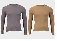"""""""da uomo collezione"""" Maniche Lunghe T-shirt 100% COTONE GIROCOLLO REGULAR FIT TOP"""