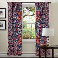 Indian Mandala Bohemian Curtains Tapestry Drapes Window Treatment Valances