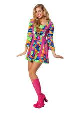 Hippiekleid 70er Jahre Kostüm Damen Frauen Flower Power Kostüm Faschingskostüm
