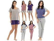 Womens Pyjamas 2 Piece Set Nightwear Short Or Long Ladies Pjs Girls Size UK 8-18