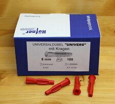 HÜFNER Universaldübel 5 - 14 mm  - mit Kragen / ohne Kragen -  Mehrzweck Dübel