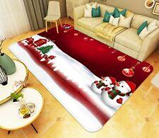 3D Snowman Snowflake O10 Christmas Game Rug Mat Elegant Photo Carpet Mat An